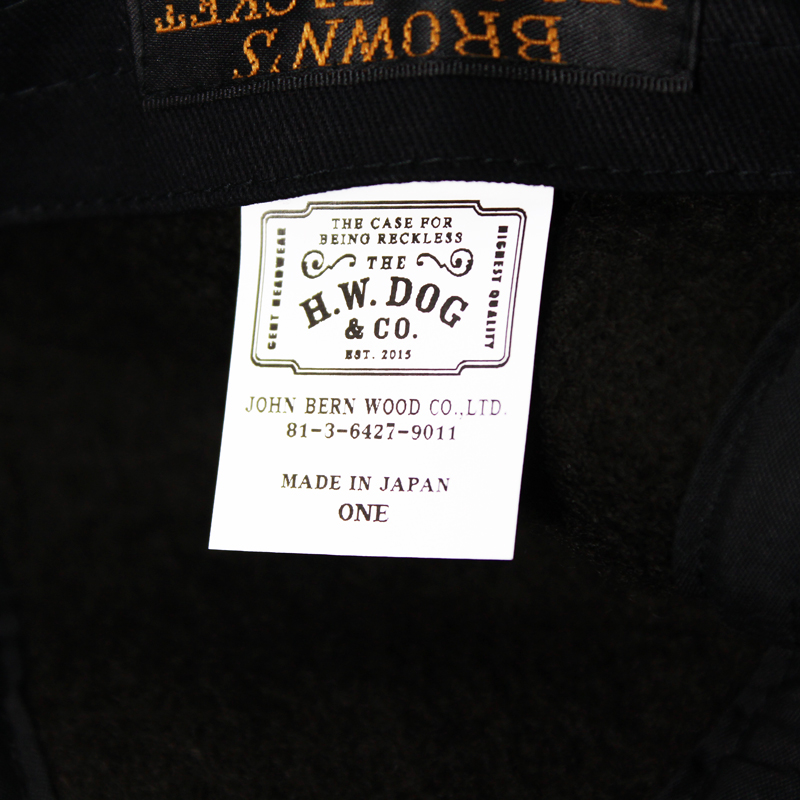 BROWN'S BEACH CASQUET HUNTING MADE BY THE H.W DOG&CO【新発売!】