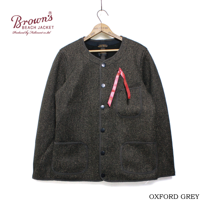 BROWN'S BEACH COLLARLESS JACKET WITH TIMOTHY EVEREST(着用画像追加)