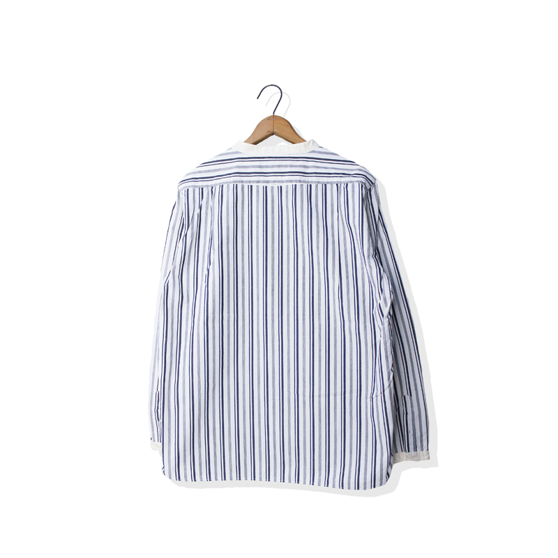 CLASSIC STRIPE BAND COLLAR SHIRT【新発売!】