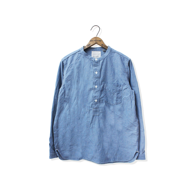 ROUND COLLAR PULLOVER CHAMBRAY SHIRTS【本日入荷!】