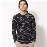 [スピナーベイト ネイビーレーベル]CAMO FLEECE SWEATER CONCHO HENLY NECK (103KF)