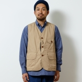 [バンブーシュート]【別注】MOUNTAIN RESEARCH×BAMBOO SHOOTS TYPEWRITER CLOTH HUNTER VEST