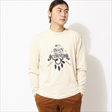 "[ダウンオンザコーナー]L/S HEMP COTTON TEE ""CACTUS & FOP"""