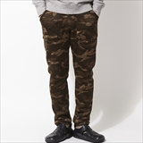 [スピナーベイト ネイビーレーベル]CAMO FLEECE SWEATER SLIM PANTS BAKER TYPE (508KF)