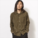 [スピナーベイト]FRIDGE別注 2nd OPEN COLLER HERINGBONE NEL SHIRTS (8304HK)