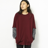 [スピナーベイト]bomberheat layered wide sweat wideneck (8401BH)