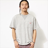 [チャムス]S/S Red Boat Logo Crew Top