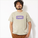 [チャムス]CHUMS Logo T Garment Dyed