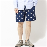 [クックマン]Chef short Pants Star Navy