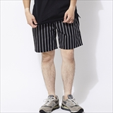 [クックマン]Chef short Pants Stripe Black