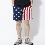 [クックマン]Chef short Pants Crazy Pattern U.S.A.