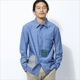 [エルネスト]R-range CHAMBRAY SHIRT