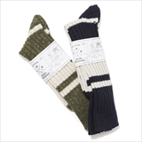 [フィクチュール]Washablen Wool Boarder High Socks