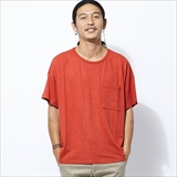 [ゴーヘンプ]HEMP×ORGANIC COTTON WIDE Pocket TEE