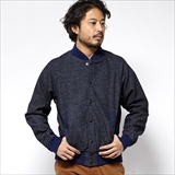 [ゴーヘンプ]FIELD JACKET/INDIGO TWEED DENIM