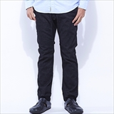 [ゴーヘンプ]SLIM RIB PANTS/10oz H/C STRETCH DENIM ONE WASH(BLACK)