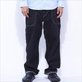 [ゴーヘンプ]VENDOR BASIC PANTS/12oz H/C DENIM ONE WASH(BLACK)