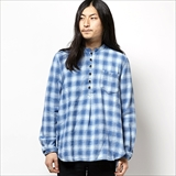 [ゴーヘンプ]CHINOIS SHIRTS/INDIGO CHECK