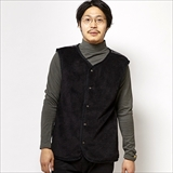 [ゴーウエスト]BOA KNIT VEST/SHEEP BOA FLEECE