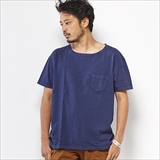 [ゴーウエスト]LOOSE S/S TEE w/Pocket/ 14/1 HEAVY WEIGHT JERSEY