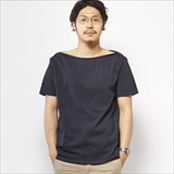 [ゴーウエスト]BOAT NECK 1/2 SLEEVE TEE/ 14/1 HEAVY WEIGHT JERSEY