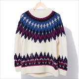 [ゴーウエスト]ESCAPE HAND KNIT SWEATER / PERU KNIT