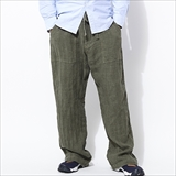 [ゴーウエスト]EASY WIDE BAKER PANTS/LINEN HERRINGBONE