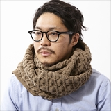 [ホーボー]Acrylic Cable Knit Snood