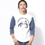 [ハオミン]Penguin 3/4 SLEEVE Tshirt