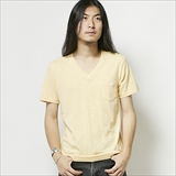 [ヘルスニット]Slab V-Neck Pocket S/S T