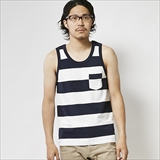 [ヘルスニット]Wide Border Pocket Tanktop