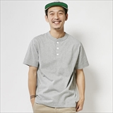 [ヘルスニット]Max Weight Henley S/S Tee