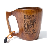 "[アウトプットライフ]【OUTPUT LIFE】WOODEN COFFEE MUG ""EASY CAMP, EASY GO"""