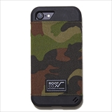 [ルート][iPhone 8/7専用]ROOT CO. GRAVITY Military Edition Shock Resist Fabric Case. (ウッドランドカモ)