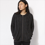 [ローター]Alan pattern zipper cardigan