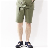 [ローター]Stretch back satin Easy Shorts
