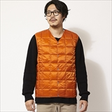 [タイオン]V NECK BUTTON DOWN VEST(MENS)