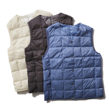 [タイオン]V NECK BUTTON DOWN VEST(WOMEN)