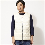 [タイオン]CREW NECK W-ZIP DOWN VEST(MENS)