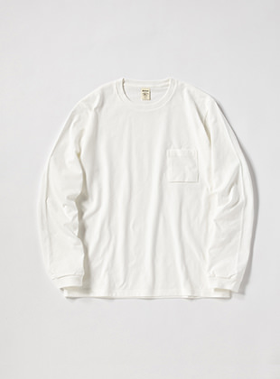 Non-wash Long Sleeve Pocket T-Shirt
