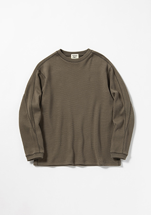 Heavy-Pima Thermal Crewneck