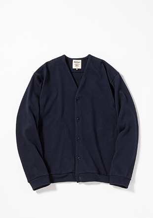 Heavy Pima Sweat Cardigan