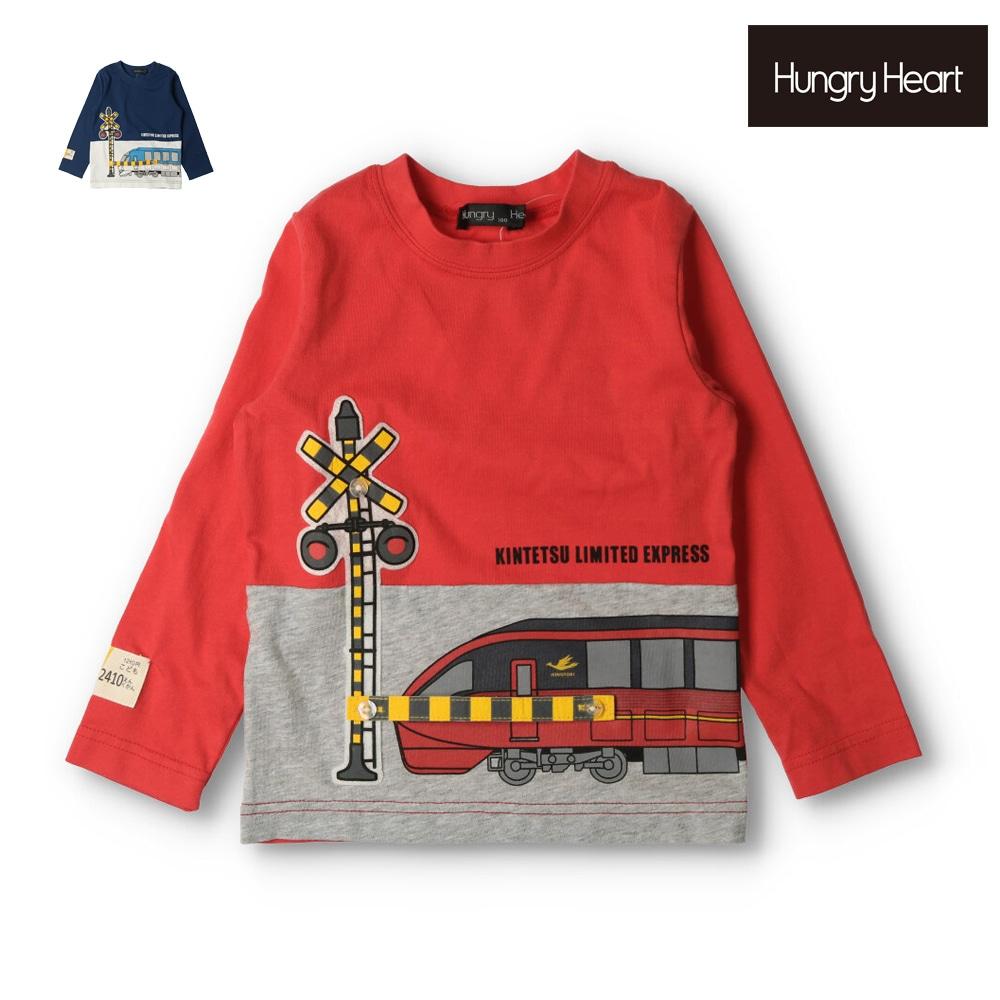 Hungry Heart (ハングリーハート) 近鉄電車踏切遮断機仕掛けTシャツ 90cm~140cm K52811