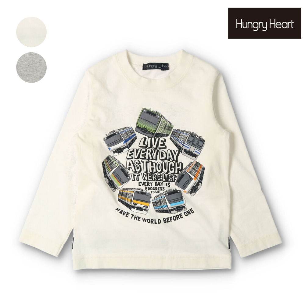 Hungry Heart (ハングリーハート) 在来線電車ロゴプリントTシャツ 90cm~130cm K52830