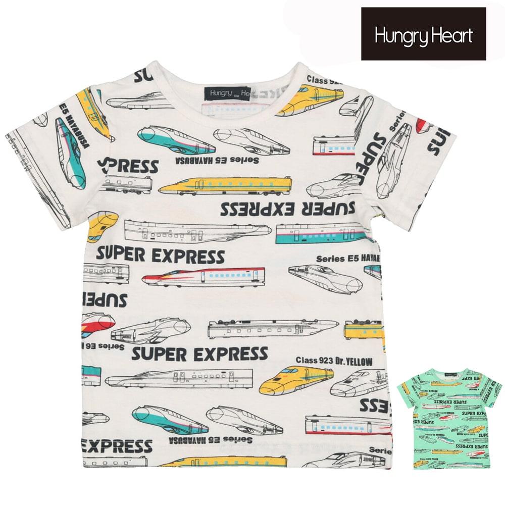 Hungry Heart (ハングリーハート) 新幹線?電車総柄半袖Tシャツ 90cm~130cm K32846
