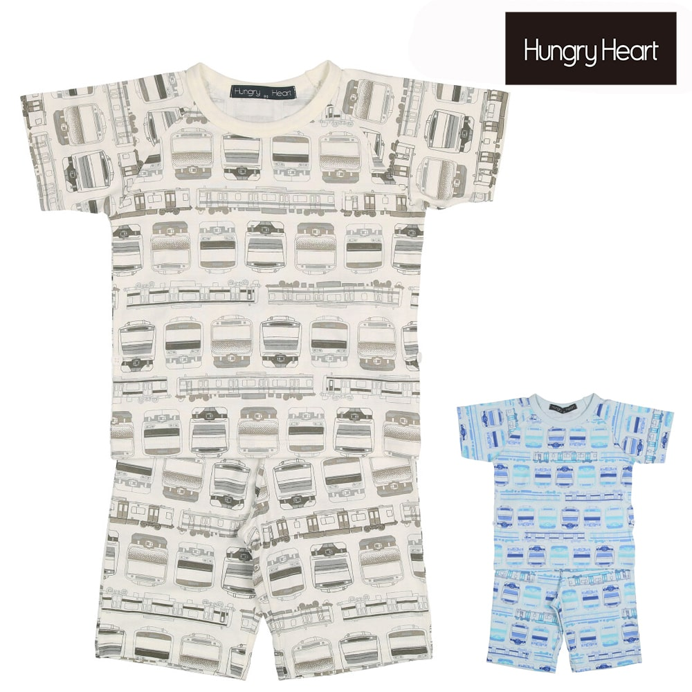 Hungry Heart (ハングリーハート) JR在来線電車柄半袖パジャマ 90cm~130cm K33702