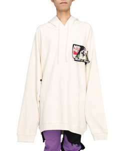 OVERSIZED HOODIE WITH PATCHES AND PINS