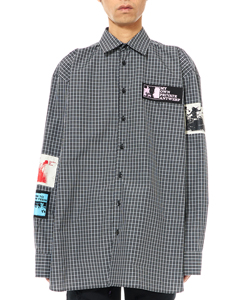 OVERSIZED SHIRT WITH PATCHES