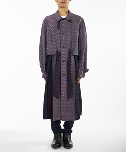 JACQUARD LONG COAT