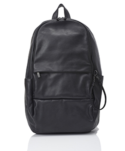 LEATHER BACKPACK ROUND DOUBLE F